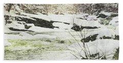 Snow On The Natchaug Beach Towel