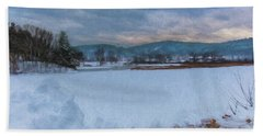 Snow On The West River Beach Towel by Tom Singleton