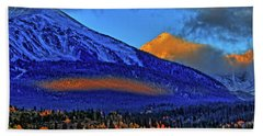 Beach Towel featuring the photograph Snow Peak Fall by Scott Mahon