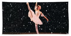 Snow Princess Ballerina Beach Sheet by Sandi OReilly