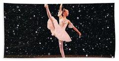 Snow Princess Ballerina Beach Sheet