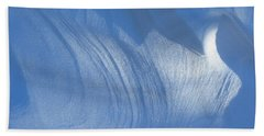 Snow Sculpted By The Wind Beach Towel