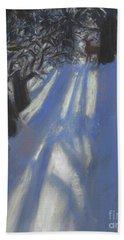 Snow Shadows Beach Towel