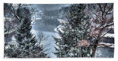 Snow Squall Beach Towel by Tom Cameron