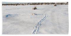 Snow Tracks Beach Towel
