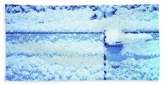 Snow Van 51 Chevy Panel Beach Sheet by Laurie Stewart