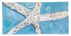 Snow White Starfish Beach Sheet