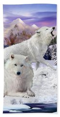 Snow Wolves Of The Wild Beach Towel
