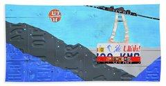 Snowbird Ski Resort Lift Utah License Plate Art Beach Towel