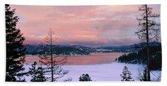 Snowbound Cougar Bay Beach Sheet