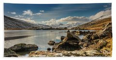 Beach Towel featuring the photograph Snowdon From Llynnau Mymbyr by Adrian Evans