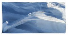 Beach Towel featuring the photograph Snowdrift Structure by Angela DeFrias