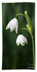 Snowdrops Painted Finger Nails Beach Towel