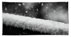Snowfall On The Handrail Beach Towel