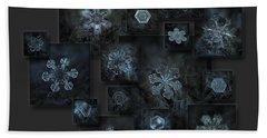 Snowflake Collage - Dark Crystals 2012-2014 Beach Sheet