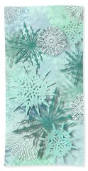 Snowflakes Beach Towel by AugenWerk Susann Serfezi