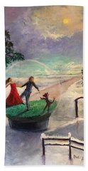 Snowglobe Beach Towel
