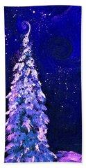 Snowman Night By Lisa Kaiser Beach Towel