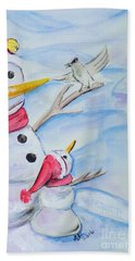 Snowmen Beach Towel