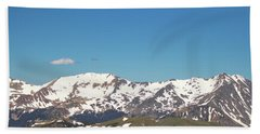 Snowtop Mountains Beach Towel