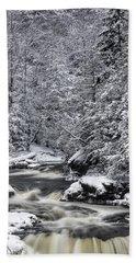 Snowy Blackwater Beach Towel
