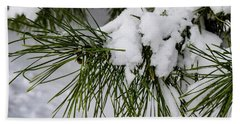 Snowy Branch Beach Towel