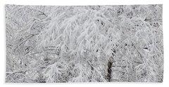 Snowy Branches Beach Sheet