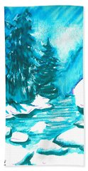 Snowy Creek Banks Beach Towel