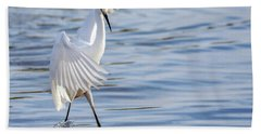 Snowy Egret 0322-111217-1cr Beach Towel