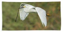 Snowy Egret 4786-091017-1cr Beach Sheet