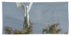 Snowy Egret 6844-100517-2 Beach Towel