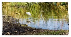 Snowy Egret Reflections Beach Sheet