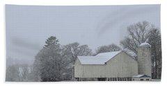 Winter White Farm Beach Towel