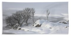 Snowy Landscape Beach Sheet