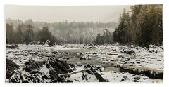Snowy Morning At Jay Cooke Beach Towel