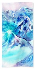 Snowy Mountains Early Morning Beach Towel