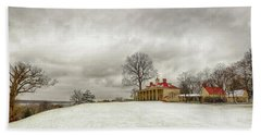 Snowy Mt Vernon Beach Towel