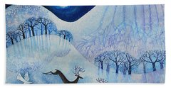 Snowy Peace Beach Towel by Lisa Graa Jensen