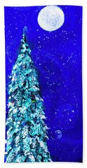 Snowy Snowman Holiday By Lisa Kaiser Beach Towel