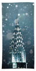 Snowy Spires Beach Towel