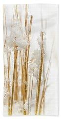 Snowy Weed - Vertical Beach Towel