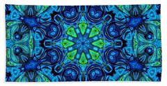 So Blue - 04v2 - Mandala Beach Towel