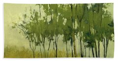 So Tall Tree Forest Landscape Painting Beach Towel