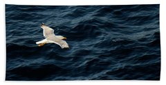 Soaring Above The Deep Blue Sea Beach Towel by Sue Melvin