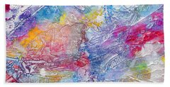 Beach Towel featuring the painting Soaring Ever Higher by Tracy Bonin