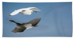 Soaring Over Still Waters Beach Towel