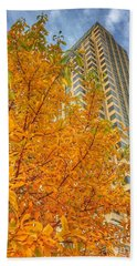Soaring Perspective In Beantown  Beach Towel by Patricia E Sundik