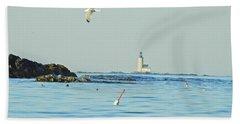Soaring Seagull Beach Towel