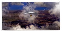 Beach Towel featuring the photograph Soaring Through The Clouds by Susan Rissi Tregoning