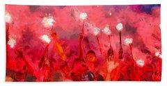 Soccer Fans Pictures Beach Sheet